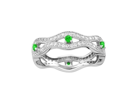 Simulated Diamond/Emerald Band Ring by Dizeo