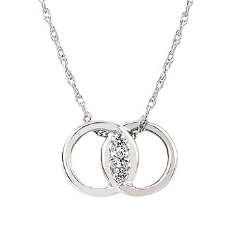 14K White Gold Diamond Marriage Symbol  by Diamond Marriage Symbol