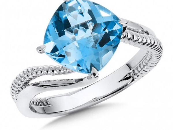 Sterling Silver Blue Topaz Ring by Colore | SG