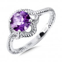 Sterling Silver Amethyst Ring by Colore | SG