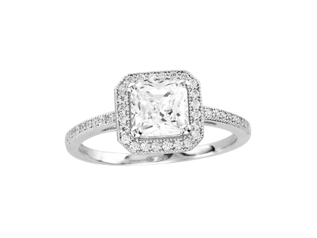 Princess Cut Halo Ring by Dizeo